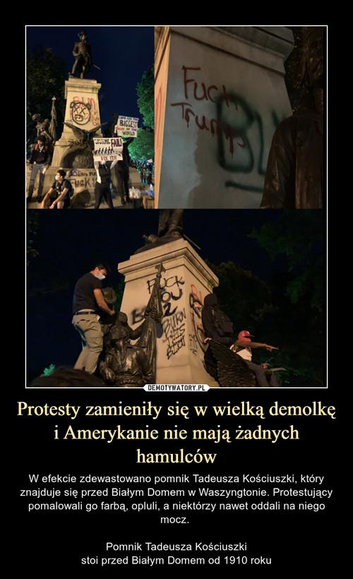 Protesty zamieniły się w wielką demolkę i Amerykanie nie mają żadnych hamulców