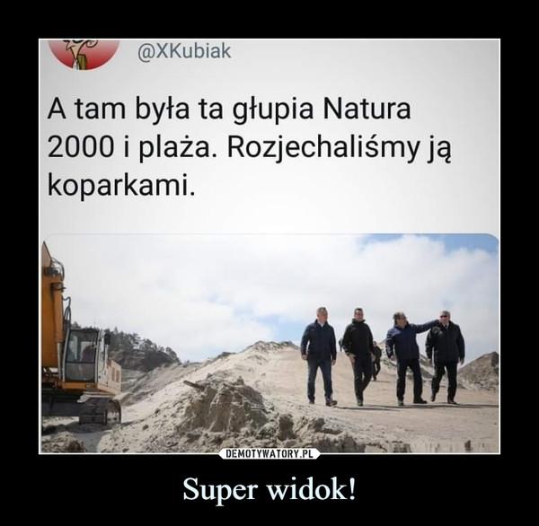 Super widok! –  A tam była ta głupia Natura2000 i plaża. Rozjechaliśmy jąkoparkami.