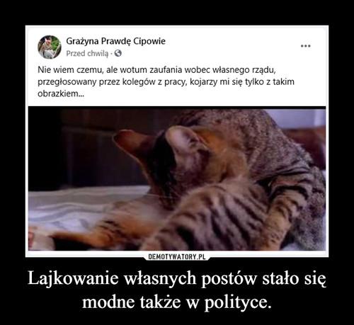 Lajkowanie własnych postów stało się modne także w polityce.