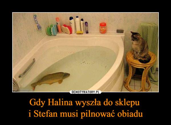Gdy Halina wyszła do sklepu i Stefan musi pilnować obiadu –