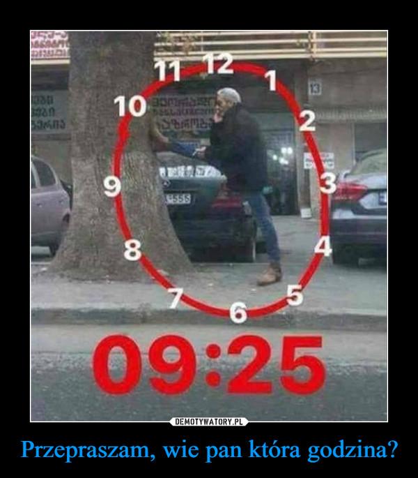 Przepraszam, wie pan która godzina? –