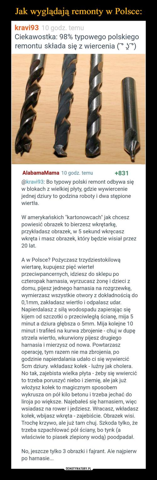 Jak wyglądają remonty w Polsce: