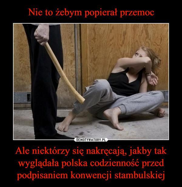 Ale niektórzy się nakręcają, jakby tak wyglądała polska codzienność przed podpisaniem konwencji stambulskiej –