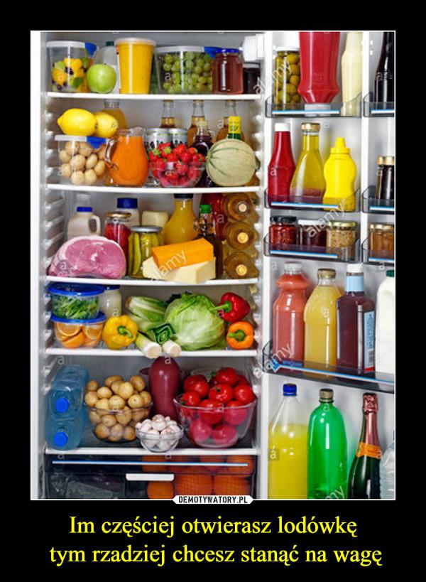 Im częściej otwierasz lodówkę tym rzadziej chcesz stanąć na wagę –