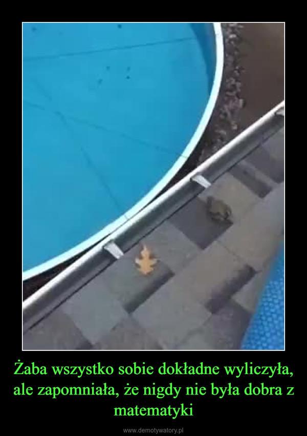 Żaba wszystko sobie dokładne wyliczyła, ale zapomniała, że nigdy nie była dobra z matematyki –
