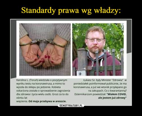 Standardy prawa wg władzy: