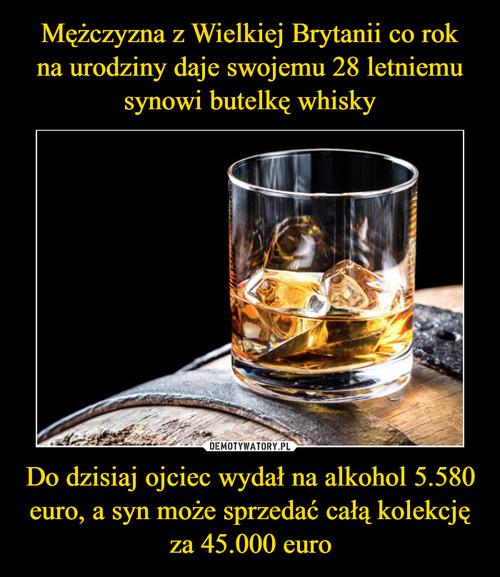 Mężczyzna z Wielkiej Brytanii co rok na urodziny daje swojemu 28 letniemu synowi butelkę whisky Do dzisiaj ojciec wydał na alkohol 5.580 euro, a syn może sprzedać całą kolekcję za 45.000 euro