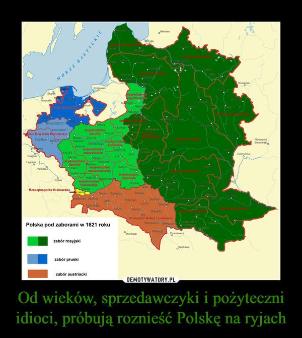 Od wieków, sprzedawczyki i pożyteczni idioci, próbują roznieść Polskę na ryjach –