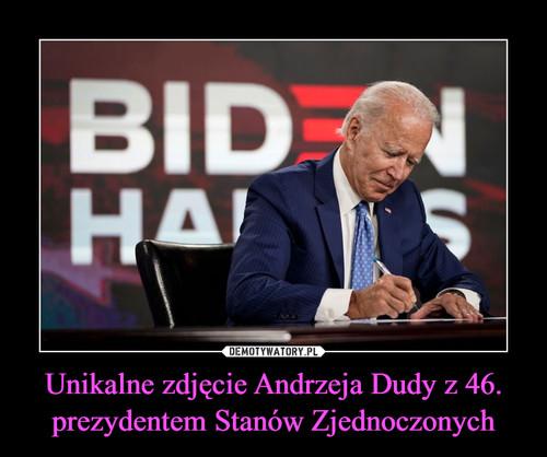 Unikalne zdjęcie Andrzeja Dudy z 46. prezydentem Stanów Zjednoczonych