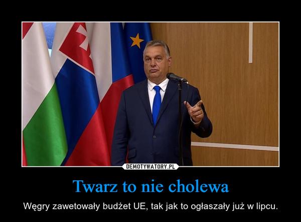 Twarz to nie cholewa – Węgry zawetowały budżet UE, tak jak to ogłaszały już w lipcu.