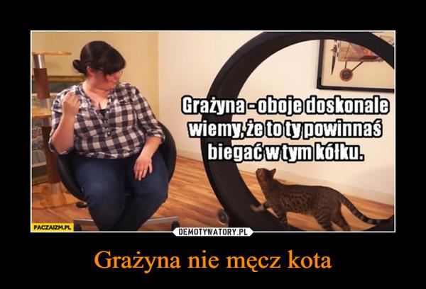 Grażyna nie męcz kota –