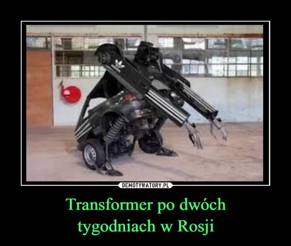 Transformer po dwóchtygodniach w Rosji –