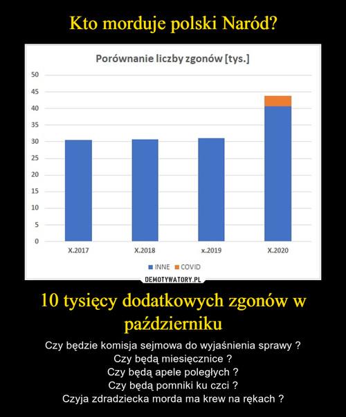 Kto morduje polski Naród? 10 tysięcy dodatkowych zgonów w październiku