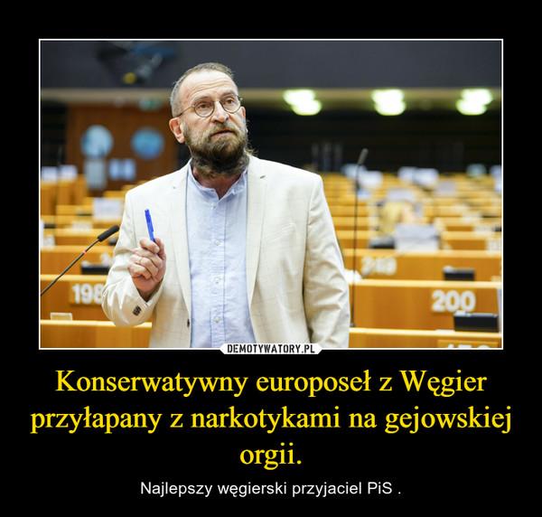 Konserwatywny europoseł z Węgier przyłapany z narkotykami na gejowskiej orgii. – Najlepszy węgierski przyjaciel PiS .