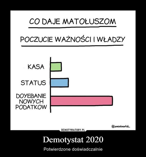 Demotystat 2020 – Potwierdzone doświadczalnie CO DAJE MATOŁUSZOMPOCZUCIE WAŻNOŚCI I WŁADZYKASASTATUSDOYEBANIENOWYCHPODATKOW@jamnotanartisk.