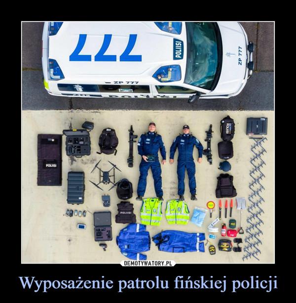 Wyposażenie patrolu fińskiej policji –