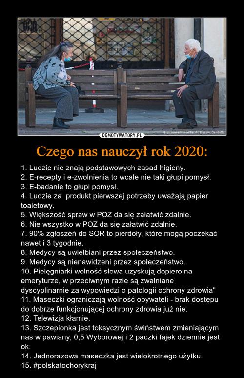 Czego nas nauczył rok 2020: