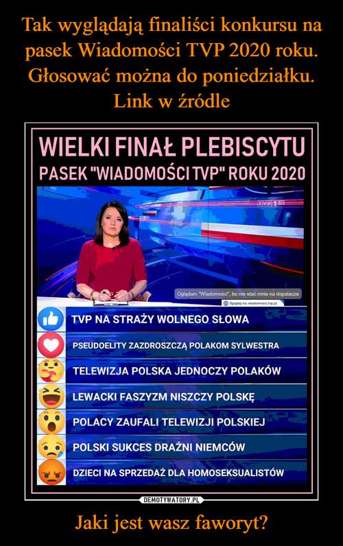 Tak wyglądają finaliści konkursu na pasek Wiadomości TVP 2020 roku. Głosować można do poniedziałku. Link w źródle Jaki jest wasz faworyt?