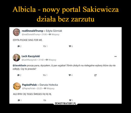 Albicla - nowy portal Sakiewicza działa bez zarzutu