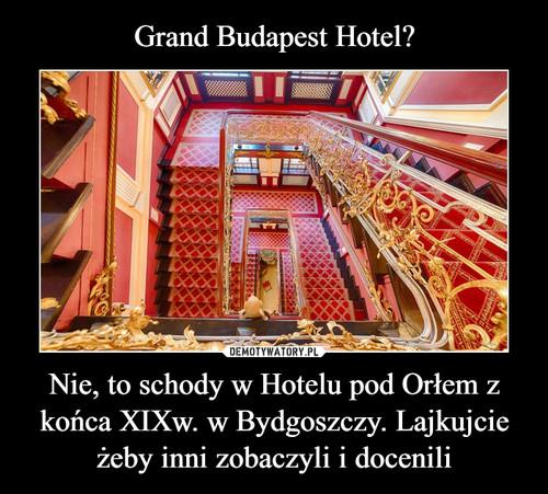 Grand Budapest Hotel? Nie, to schody w Hotelu pod Orłem z końca XIXw. w Bydgoszczy. Lajkujcie żeby inni zobaczyli i docenili