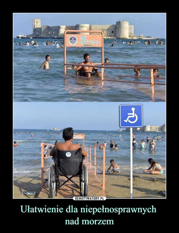 Ułatwienie dla niepełnosprawnych nad morzem –