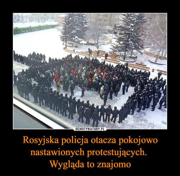 Rosyjska policja otacza pokojowo nastawionych protestujących. Wygląda to znajomo –