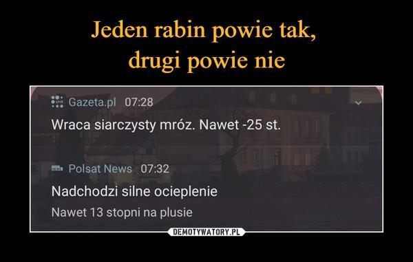 –  Gazeta.pl 07:28 Wraca siarczysty mróz. Nawet -25 st. Polsat News 07:32 Nadchodzi silne ocieplenie Nawet 13 stopni na plusie