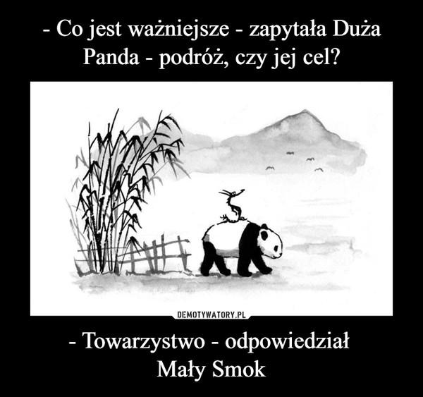 - Towarzystwo - odpowiedział Mały Smok –