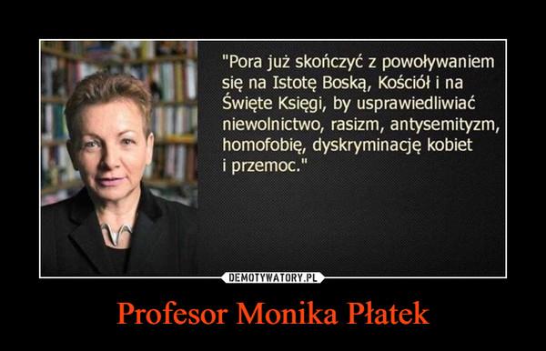 Profesor Monika Płatek –