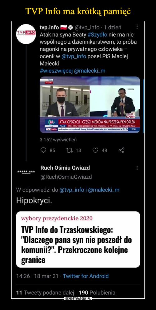 TVP Info ma krótką pamięć