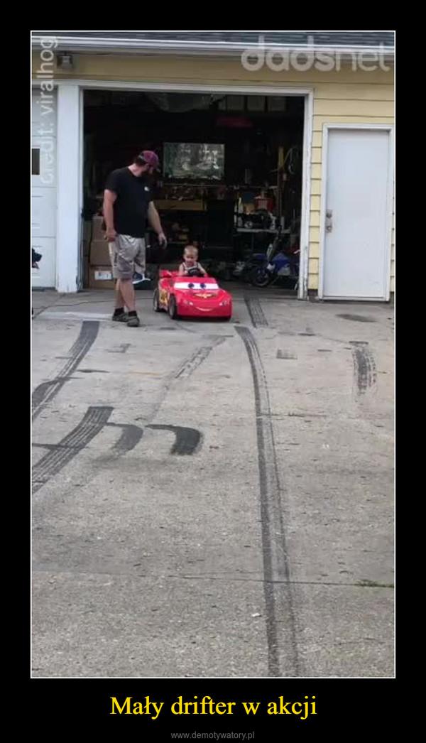 Mały drifter w akcji –
