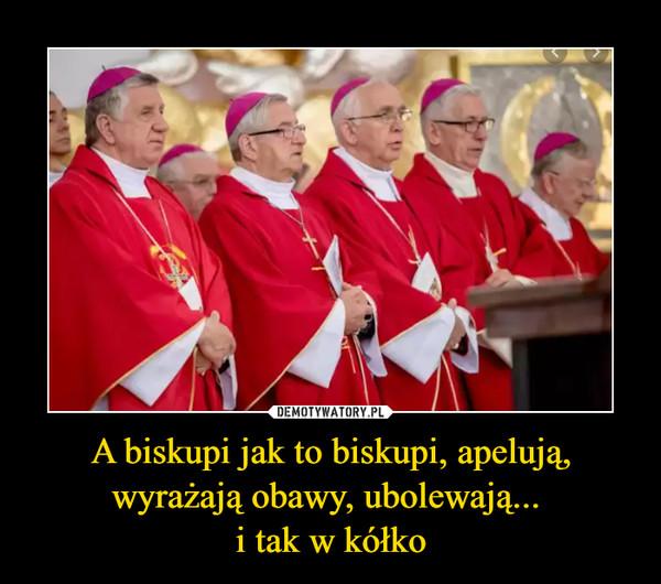 A biskupi jak to biskupi, apelują, wyrażają obawy, ubolewają... i tak w kółko –