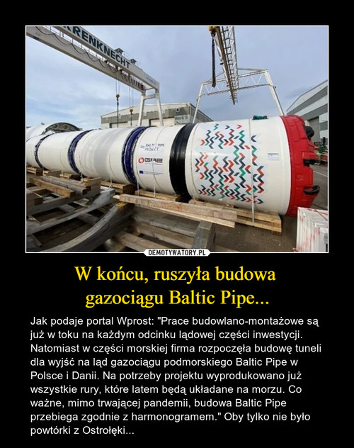 W końcu, ruszyła budowa  gazociągu Baltic Pipe...