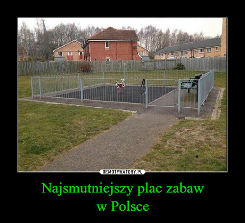Najsmutniejszy plac zabaw w Polsce