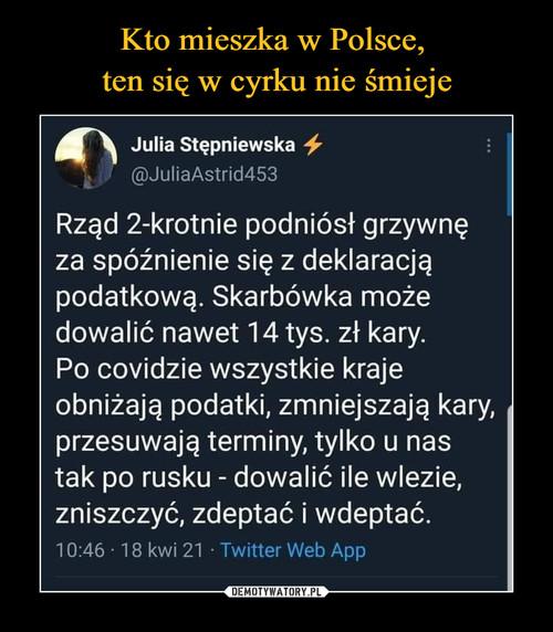 Kto mieszka w Polsce,  ten się w cyrku nie śmieje