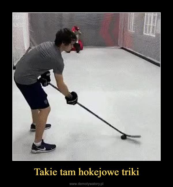 Takie tam hokejowe triki –