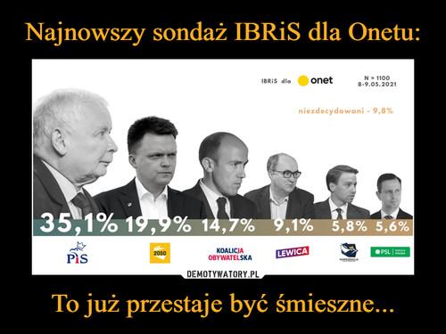 Najnowszy sondaż IBRiS dla Onetu: To już przestaje być śmieszne...