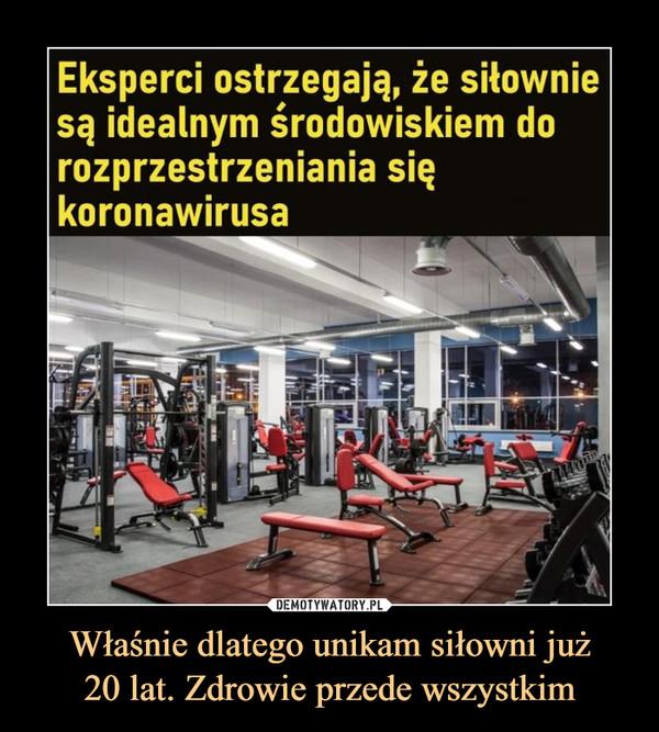 Właśnie dlatego unikam siłowni już20 lat. Zdrowie przede wszystkim –  Eksperci ostrzegają, że siłowniesą idealnym środowiskiem dorozprzestrzeniania siękoronawirusa