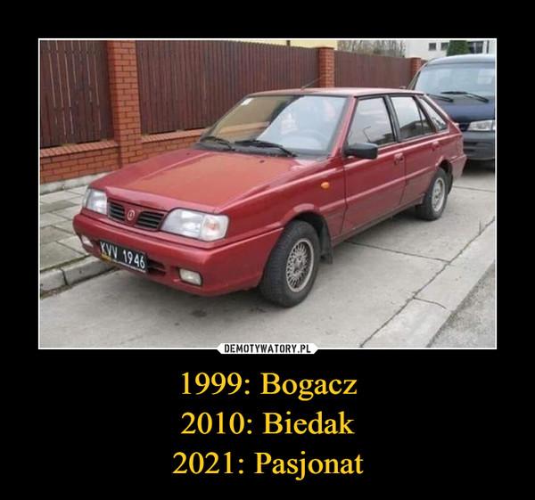 1999: Bogacz2010: Biedak2021: Pasjonat –