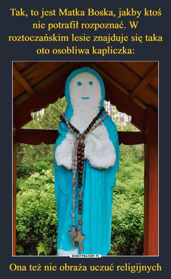 Ona też nie obraża uczuć religijnych –