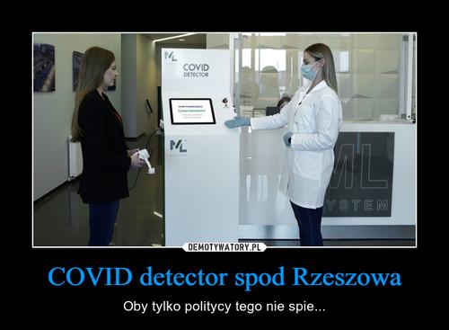 COVID detector spod Rzeszowa