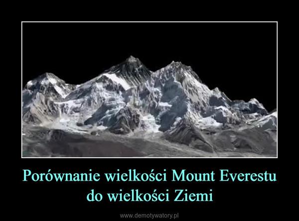 Porównanie wielkości Mount Everestu do wielkości Ziemi –