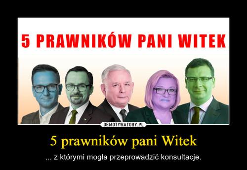 5 prawników pani Witek