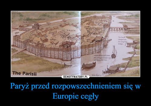 Paryż przed rozpowszechnieniem się w Europie cegły