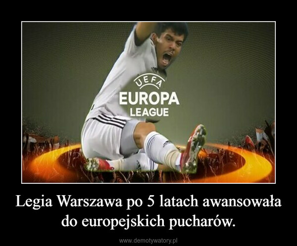 Legia Warszawa po 5 latach awansowała do europejskich pucharów. –