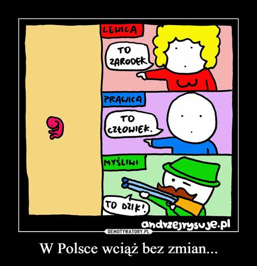 W Polsce wciąż bez zmian...