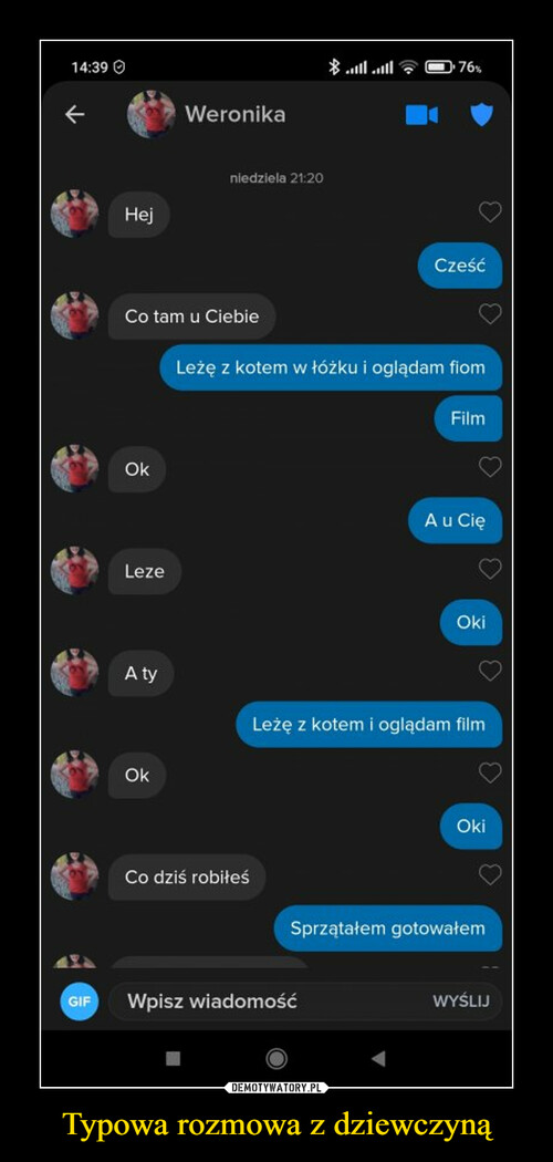 Typowa rozmowa z dziewczyną