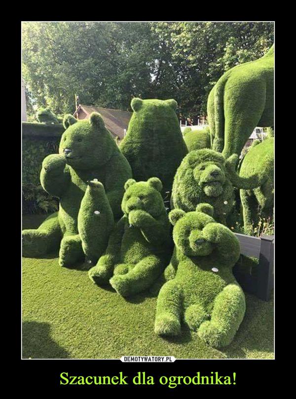 Szacunek dla ogrodnika!